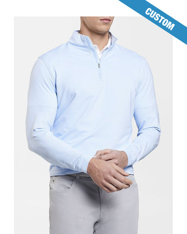 Peter Millar Perth Stretch Loop Terry Sugar Stripe Quarter-Zip