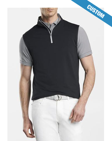 Peter Millar Galway Stretch Loop Terry Quarter-Zip Vest