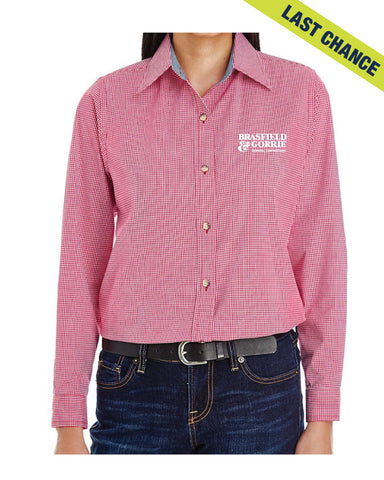 Backpacker Ladies' Micro-Check Woven Button Down Shirt