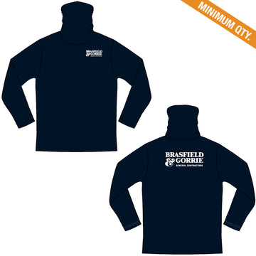 Poly Jersey Gaiter Long Sleeve T-shirt - Navy