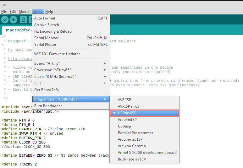 Getting Started with MagSpoof using Arduino IDE - Rysc Corp