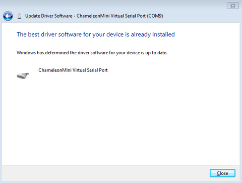 CMini Driver Installed