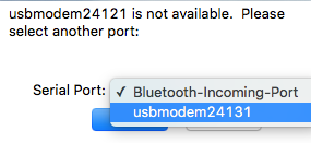 USB Modem Selected Xterm