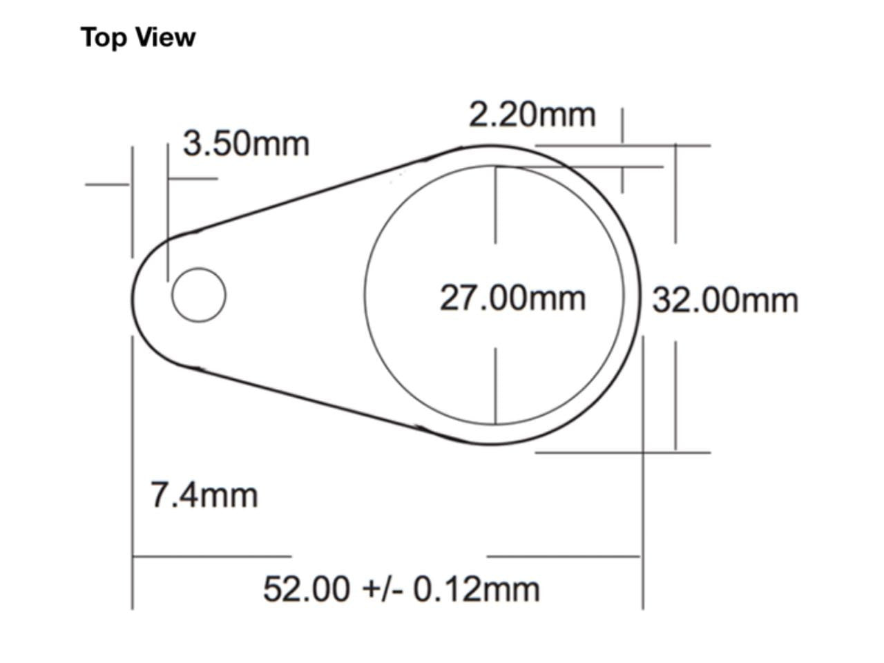 T5577 Keyfob Schematic Top