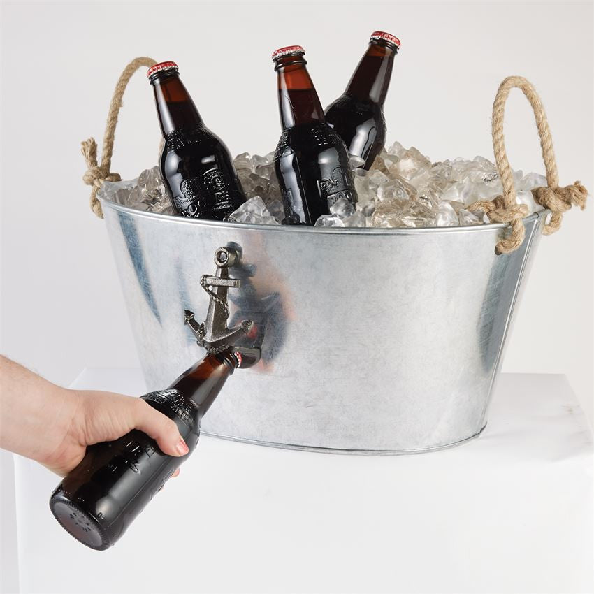 steel and beaumont galvanised beverage bucket with ice champagne handles buy wine tub large