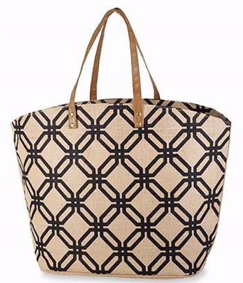 cefbf83a73d Ikat Jute Tote Natural and Black