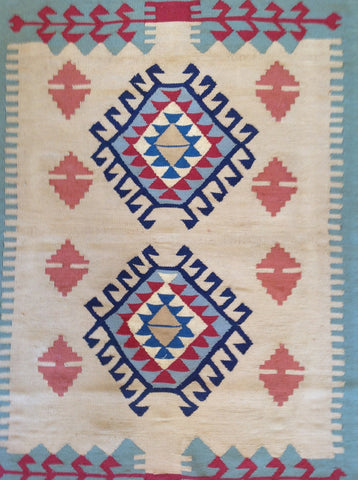 2' x 3' Wool Area Rug made in Egypt Bohemian Lifestyle