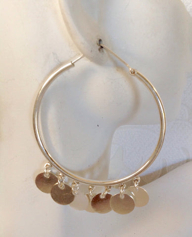 Sterling Silver gypsy hoop earrings