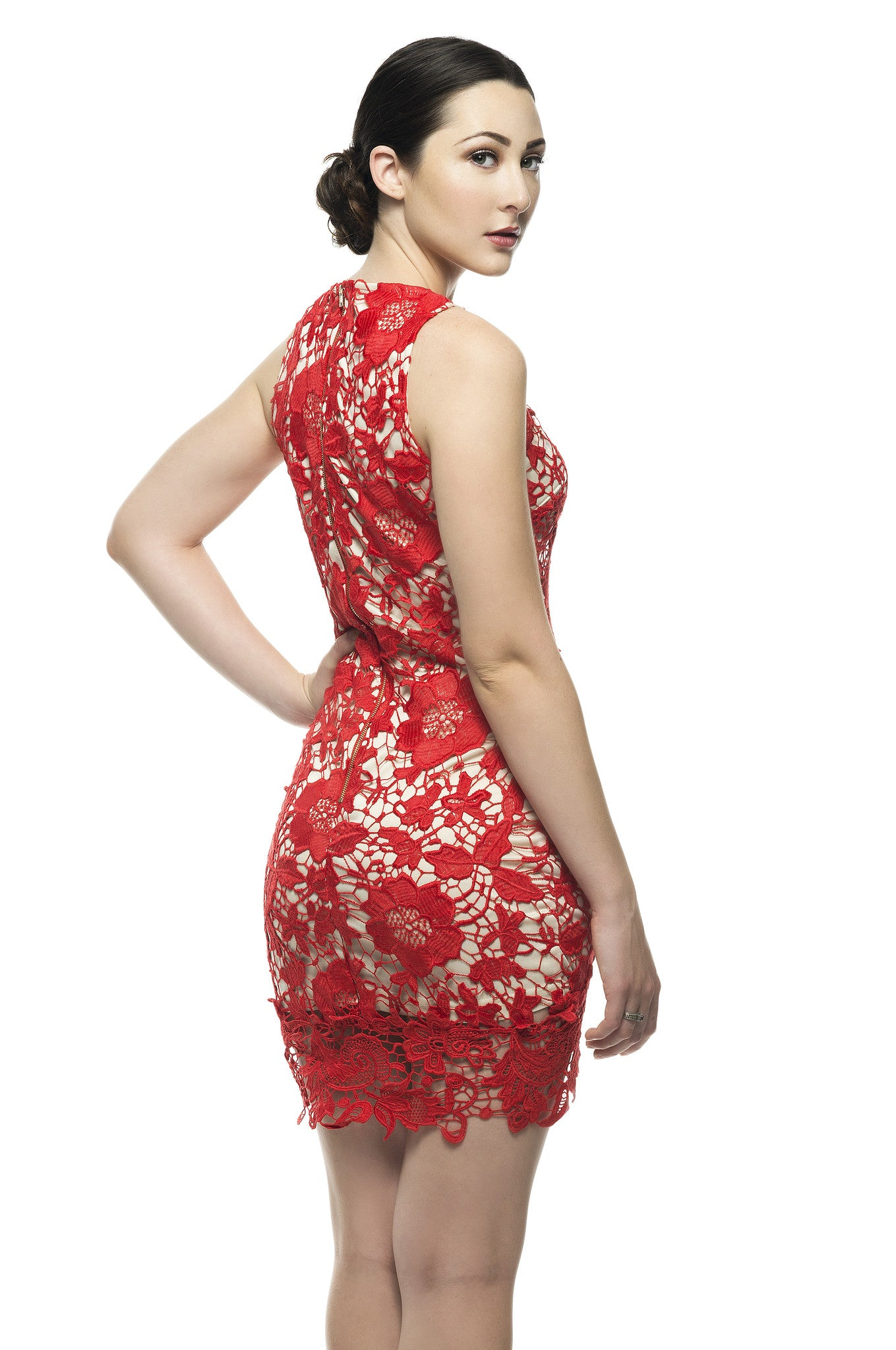Naughty Grl Cute & Classy Bodycon Dress - Red - NaughtyGrl