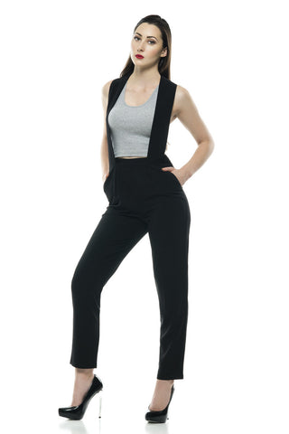 Designer inexpensive online boutique for women - Naughty Grl Sleek & Professional Jumpsuit - Black - NaughtyGrl