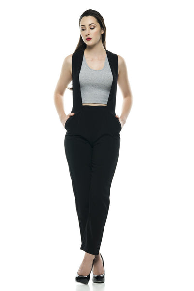 Naughty Grl Sleek & Professional Jumpsuit - Black