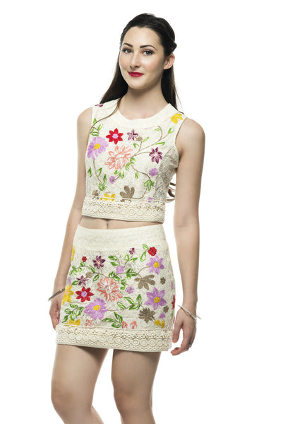 Elegant Embroidery Flower Garden Top - NaughtyGrl