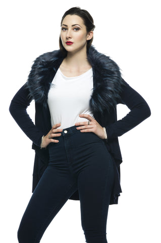 Designer inexpensive online boutique for women - Glamours Faux Fur Jacket