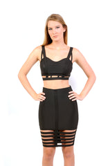 Chick Peek Girl Caged Black Skirt - NaughtyGrl