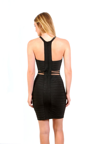 Naughty Grl Sexy Bodycon Bandage Dress - Black - NaughtyGrl