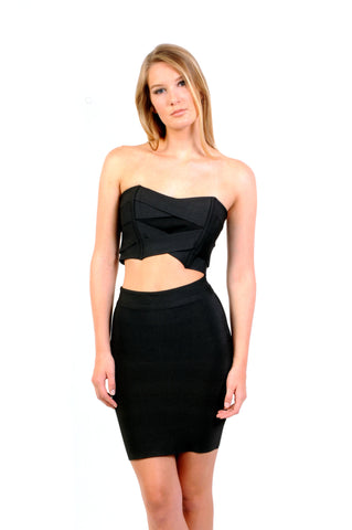 Inexpensive online boutiques for women consisting of variety of cheap fashionable clothes - All Stars Black 2 Piece Set