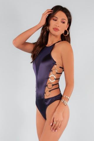 Multi Color Cut-out Side Swimsuit