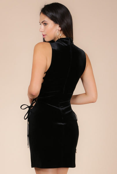 Velvet Little Black Dress - NaughtyGrl
