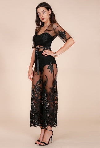 Designer inexpensive online boutique for women - Naughty Grl Lace Evening Gown - Black - NaughtyGrl