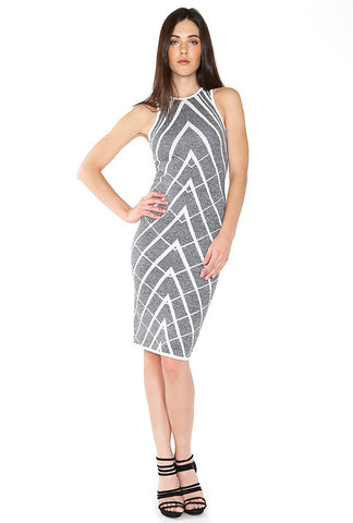 Designer inexpensive online boutique for women - Naughty Grl Elegant Midi Dress - Lack Heather
