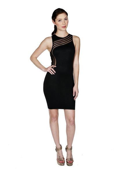 Naughty Grl Elegant Evening Mesh Dress - Black - NaughtyGrl