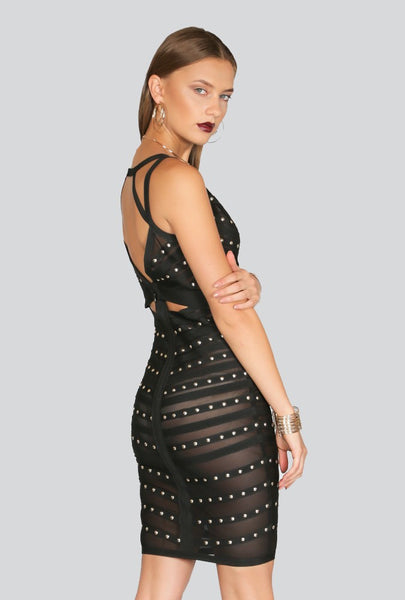 Naughty Grl Magic Body Con Dress - Black - NaughtyGrl