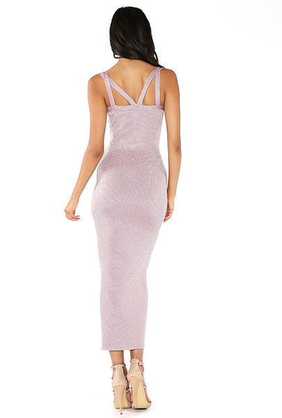 Naughty Grl Designer Midi Dress - Dusty Pink - NaughtyGrl