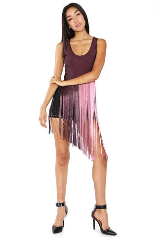Designer inexpensive online boutique for women - Hip 'n' Cool Bandage  Fringed Top - NaughtyGrl