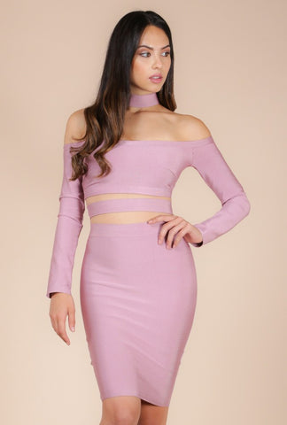 Designer inexpensive online boutique for women - Naughty Grl Sexy Bandage Dress - Blush - NaughtyGrl
