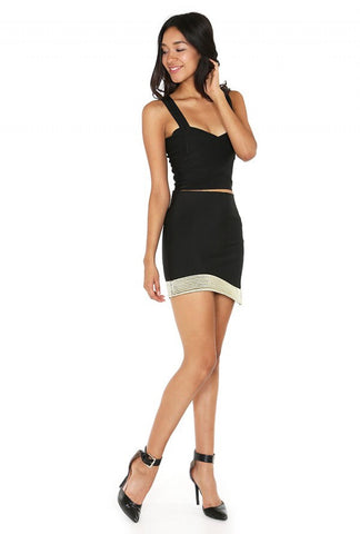 Designer inexpensive online boutique for women - Naughty Grl Evening Knitted Mini Skirt - Black