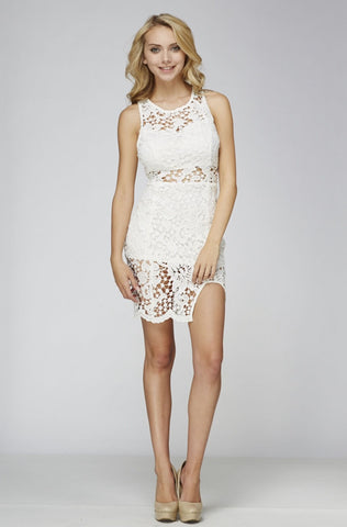 Designer inexpensive online boutique for women - Free Falling Lace Dress