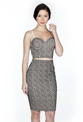 Naughty Grl Elegant Lace Two Piece Bodycon Dress - Black - NaughtyGrl