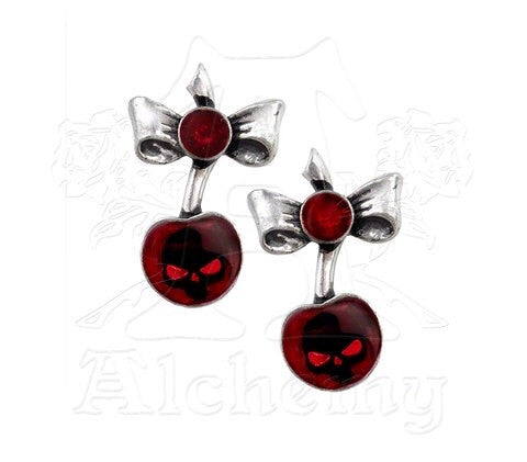 Designer inexpensive online boutique for women - Black Cherry Earrings - NaughtyGrl