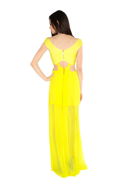 Naughty Grl Spring Maxi Dress - Lemon - NaughtyGrl