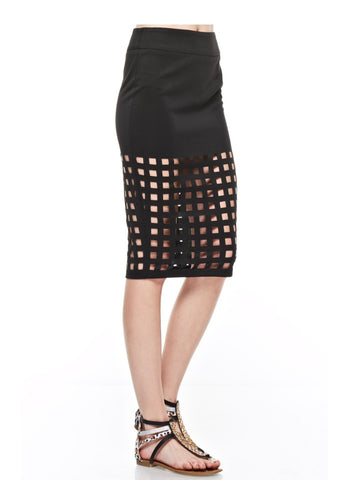 Designer inexpensive online boutique for women - Break Outta Or Stay In The Cage Skirt