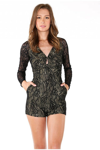 Naughty Grl Illusion Style Dress - Dark Oak