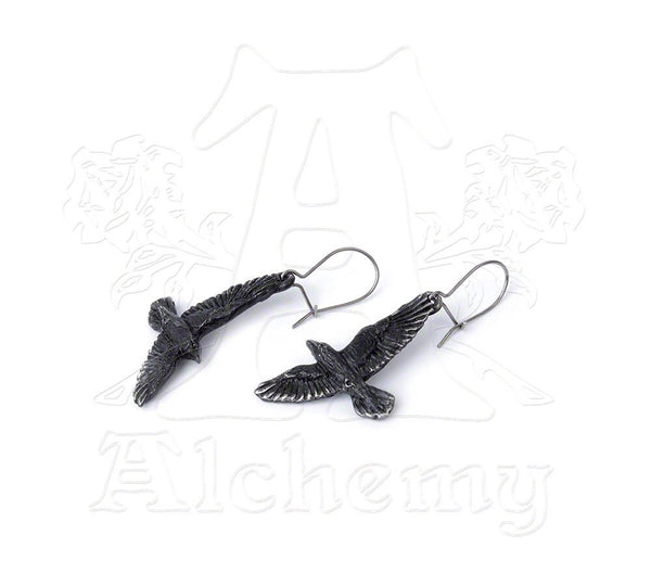 Black Raven Earrings - NaughtyGrl