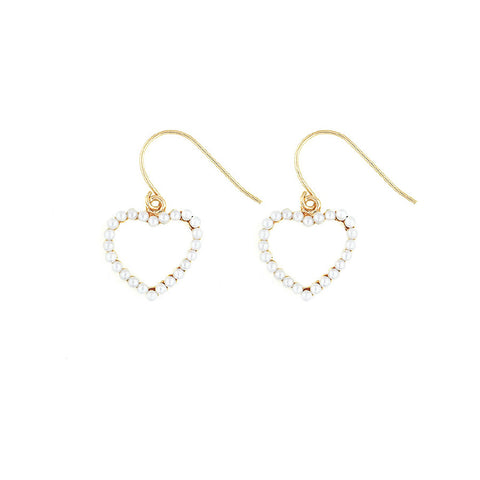 Designer inexpensive online boutique for women - Pearl Heart Dangles