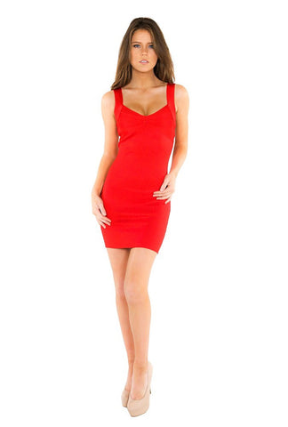 Designer inexpensive online boutique for women - Naughty Grl Sexy Party Bandage Dress - Red