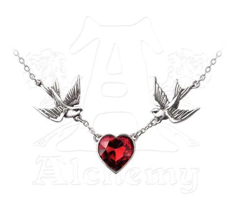 Swallow Heart Necklace