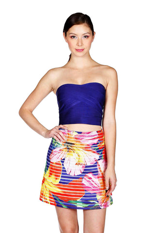 Satin Flared Skirt