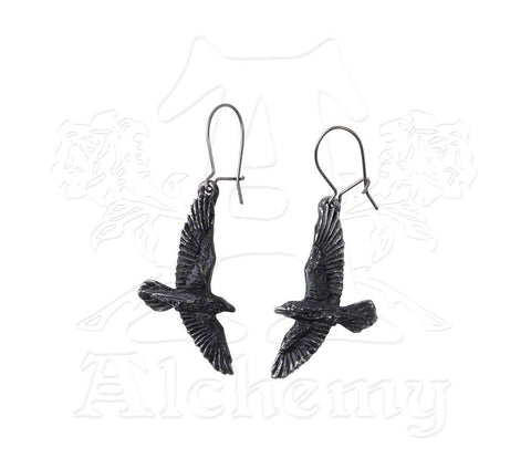 Designer inexpensive online boutique for women - Black Raven Earrings - NaughtyGrl
