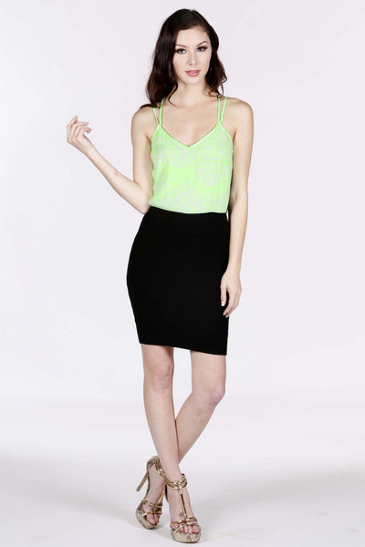 Naughty Grl Classy Lace Back Bandage Dress - Neon Green