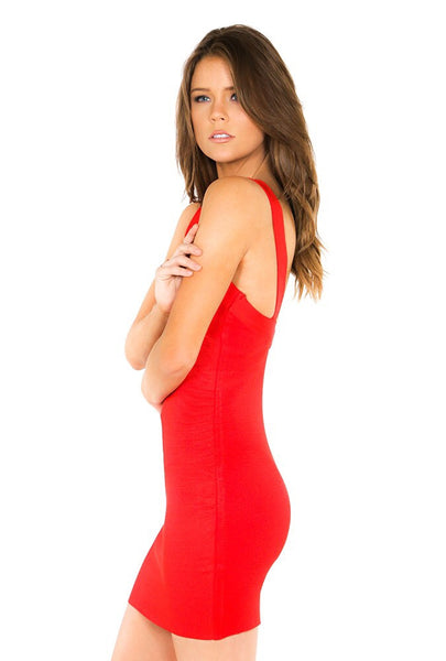 Naughty Grl Sexy Party Bandage Dress - Red