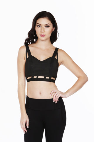 Naughty Grl Cute & Sexy Halter Top - Black