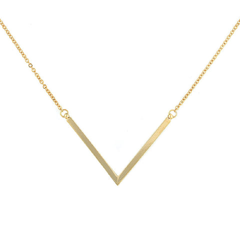 Designer inexpensive online boutique for women - Super V Gold Necklace
