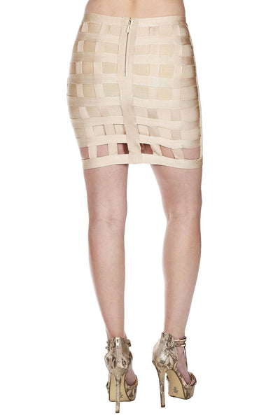 Cool Mini Bandage Caged Skirt - NaughtyGrl