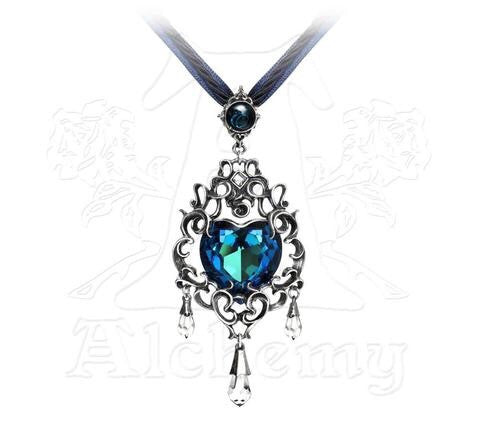 Designer inexpensive online boutique for women - Empress Eugenie's Blue Heart Diamond Pendant - NaughtyGrl