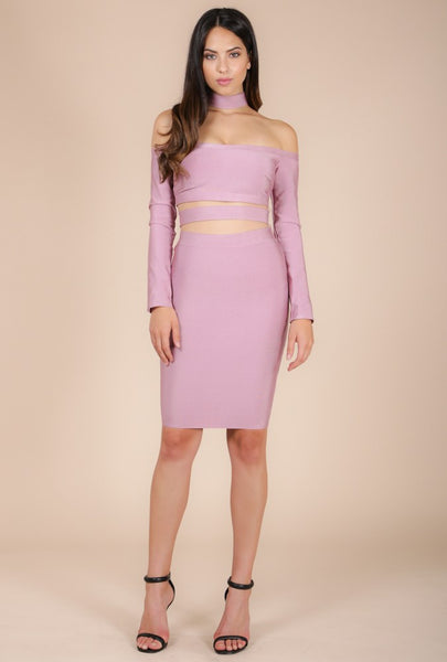 Naughty Grl Sexy Bandage Dress - Blush - NaughtyGrl