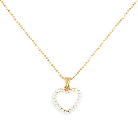 Designer inexpensive online boutique for women - Pearl Heart Pendent